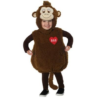 Toddler Build-A-Bear Monkey Cuddles Teddy Belly Halloween Costume