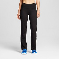 Women's Everyday Mid-Rise Curvy Fit Pants - C9 Champion® Black