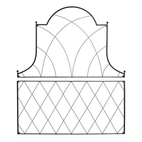 "53"" Tall Iron 2 Pc Somerset Decorative Garden Trellis Black Powder Coat Finish - Achla Designs - image 1 of 4"