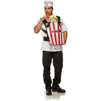 Seeing Red Movie Usher & Popcorn Adult & Infant Carrier Costume   One Size