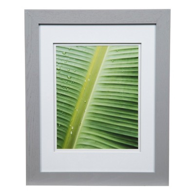 Single Picture 11X14 Wide Double Mat Gray 8X10 Frame - Gallery Solutions