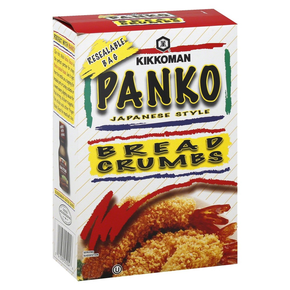 Kikkoman Panko Bread Crumbs 8oz Whether you're baking or frying, Panko Bread Crumbs from Kikkoman will give you the right coating every time. These bread crumbs are light and airy because the bread they're made from was baked to be that way. Mix with your favorite herbs and spices to make everything from fried shrimp to baked onion rings.