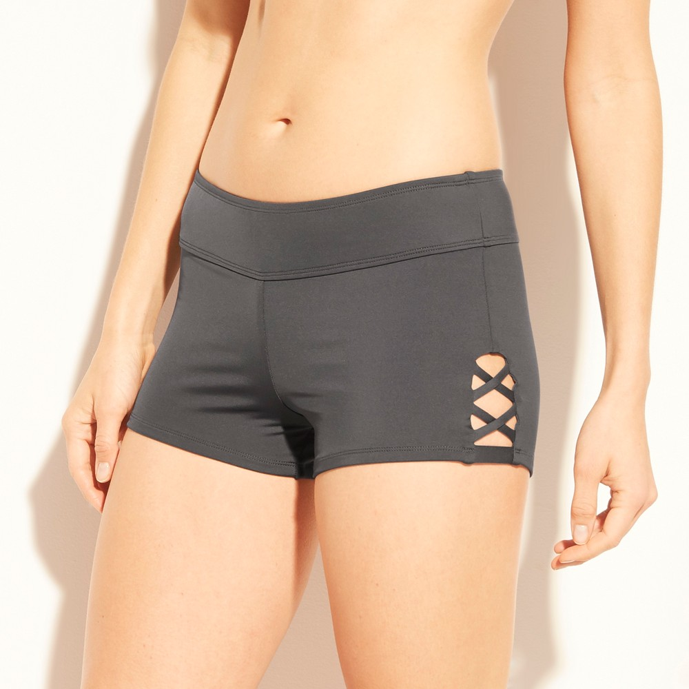 Women's Strappy Side Swim Shorts - Kona Sol Gray XS