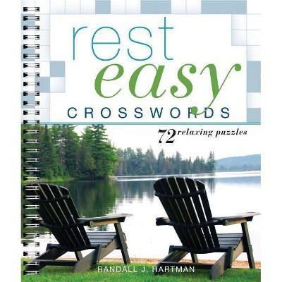 Rest Easy Crosswords - by Randall J Hartman (Paperback)