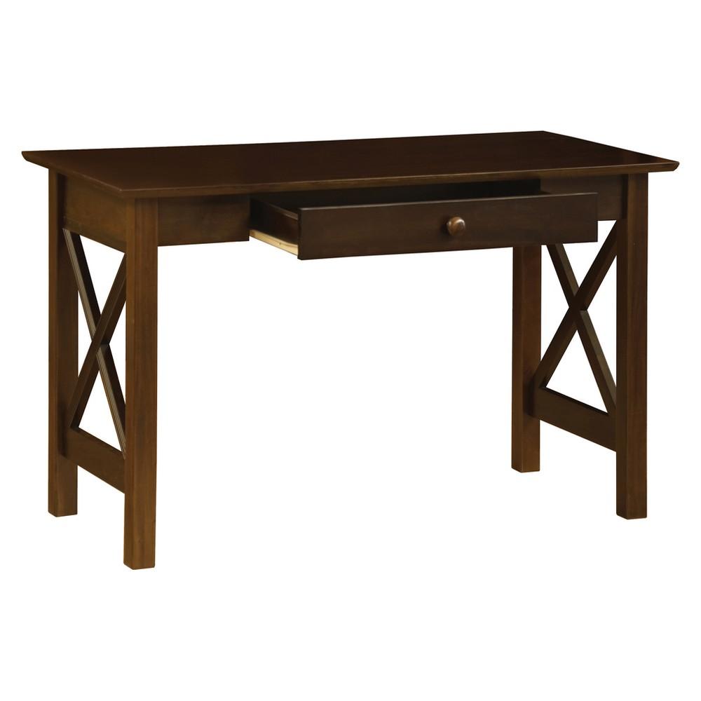 Writing Desk Modern Feel Caramel - Atlantic Furniture Writing Desk Modern Feel Caramel - Atlantic Furniture
