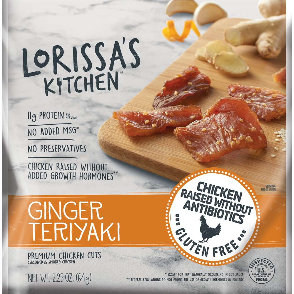 Lorissa's Kitchen Ginger Teriyaki Chicken Jerky - 2.25oz