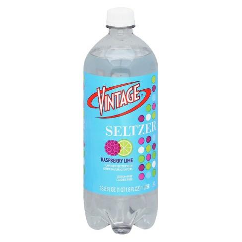 Vintage Raspberry Lime Seltzer - 33.8 fl oz Bottle - image 1 of 1