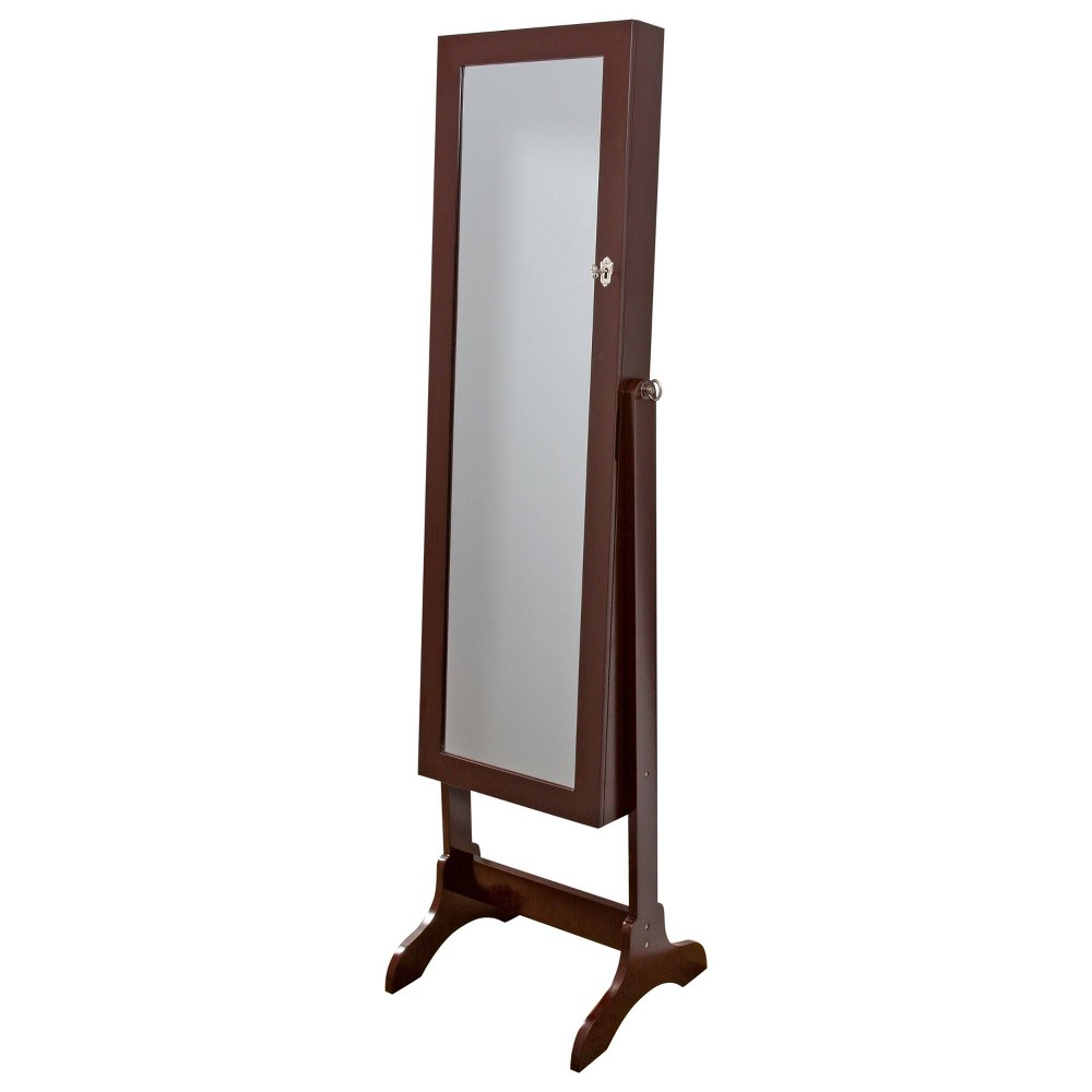 Simplify Standing Jewelry Cabinet Brown