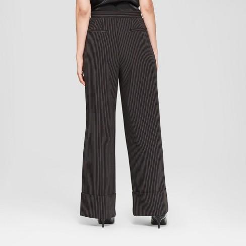 Womens Wide Leg Pinstripe Pants Prologue Black Target