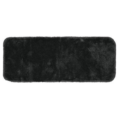 "22""x60"" Finest Luxury Ultra Plush Washable Nylon Bath Runner Dark Gray - Garland"
