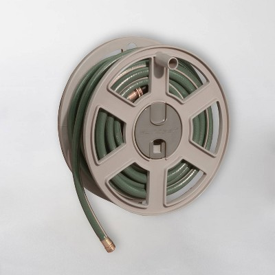 100' Resin Sidewinder Wall Mount Hose Reel Tan - Suncast
