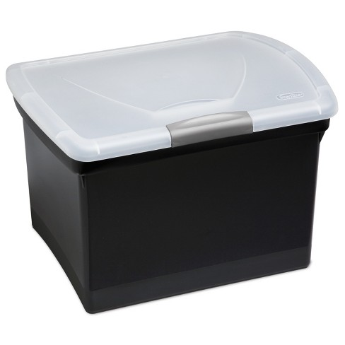 Sterilite Large Letter File Box - Black