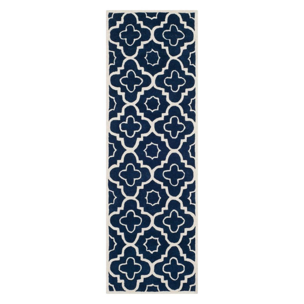 23X7 Geometric Runner Dark Blue/Ivory - Safavieh Promos