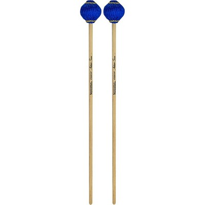 Innovative Percussion Artisan Series Multi-Tone Cedar Handle Marimba Mallets Royal Blue Yarn