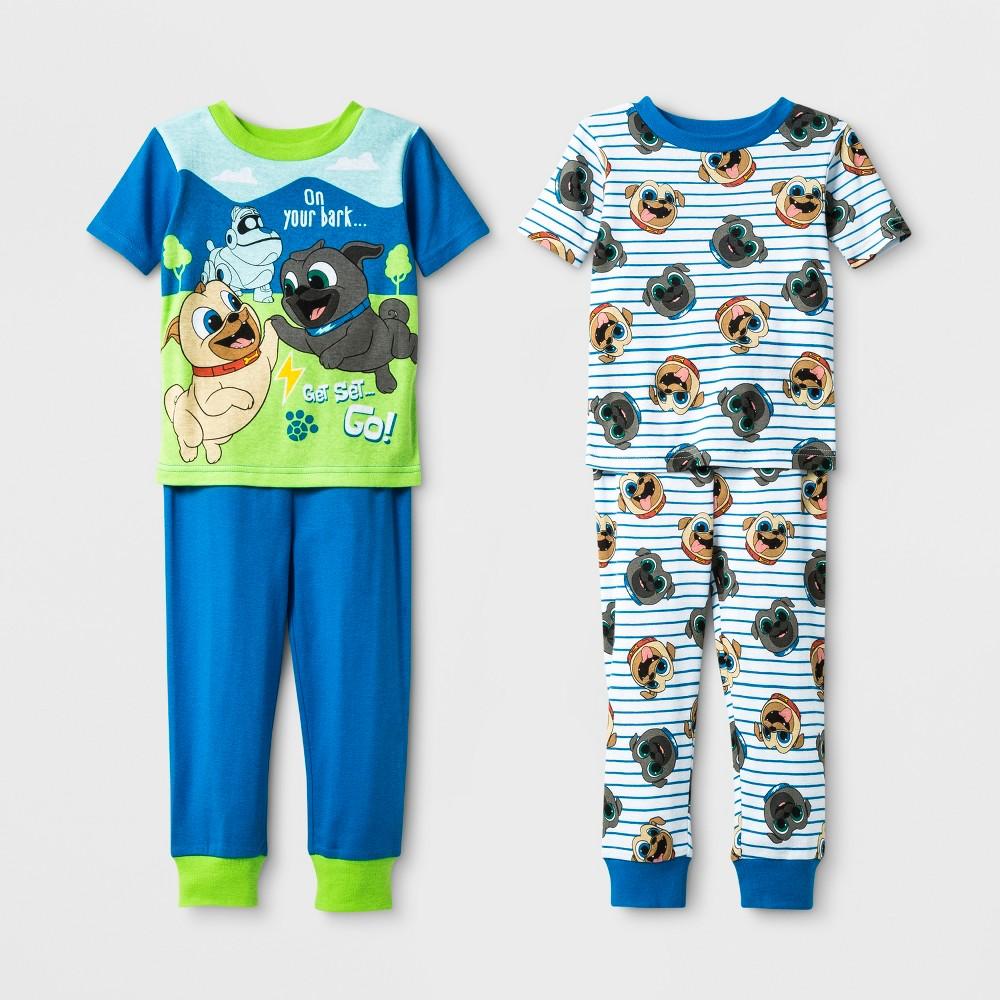 Toddler Boys' 4pc Puppy Dog Pals Pajama Set - Blue 3T
