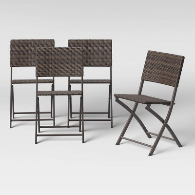 Monroe Wicker Patio Folding Accent Chair - Threshold™