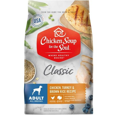 Chicken Soup for the Soul Chicken, Turkey & Brown Rice Recipe Dry Dog Food Adult 28 lb