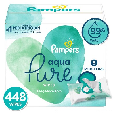 Pampers Aqua Pure Baby Wipes - 448ct