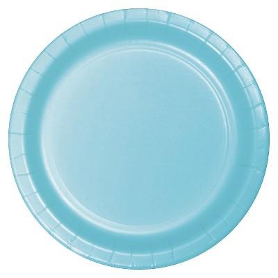 "Pastel Blue 7"" Dessert Plates - 24ct"