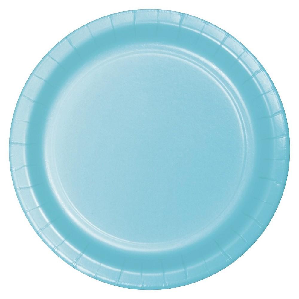 Pastel Blue 7 Dessert Plates - 24ct Best
