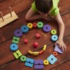 Melissa & Doug Geometric Stacker - Wooden Educational Toy - image 4 of 4