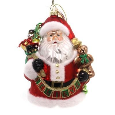 Holiday Ornaments Believe Ornament Santa Claus 20Th Anniversary  -  Tree Ornaments