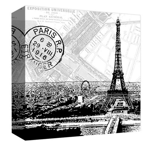 "Paris R.P. Decorative Canvas Wall Art 16""x16"" - PTM Images - image 1 of 1"