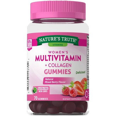 Nature's Truth Women's Multi-Vitamin Collagen Gummies - Natural Berry - 70ct