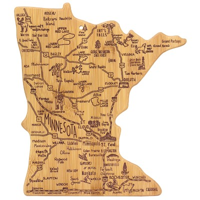 Totally Bamboo Destination Minnesota Cutting Board 13.25  x 11.75