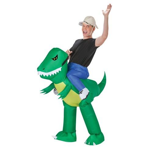 Dinosaur Rider Adult Inflatable Costume   Target aab1b9f067