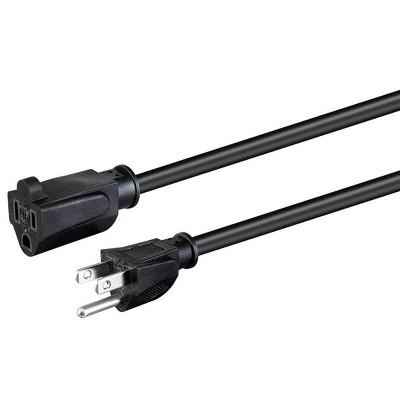 Monoprice Extension Cord - 1 Feet - Black | NEMA 5-15P to NEMA 5-15R, 18AWG, 10A, SVT, 120V