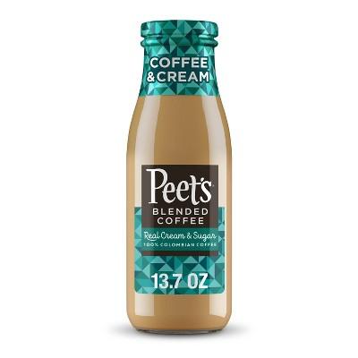 Peet's Coffee Iced Coffee & Cream - 13.7 fl oz Bottle