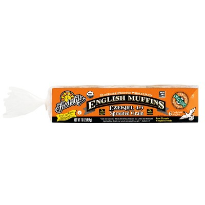 Food For Life Ezekiel 4:9 Organic Frozen Sprouted Whole Grain English Muffins - 16oz/6ct