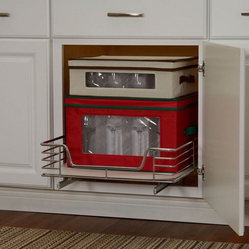 Design Trend 1 Tier Single Basket Sliding Under Cabinet Organizer 20 Extended Depth Chrome Target