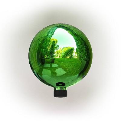 "Alpine 12"" Glass Gazing Globe Green"
