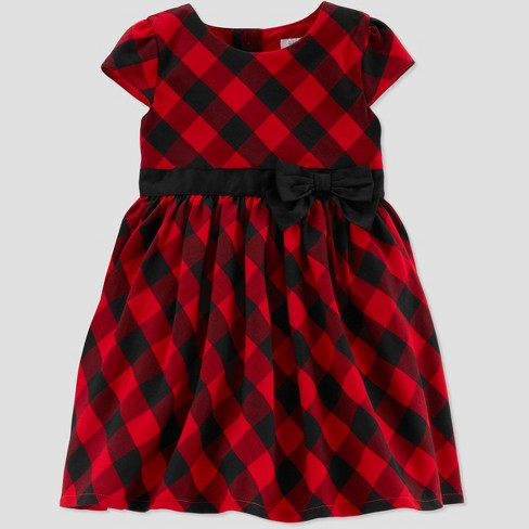 fda3143e7e9 Toddler Girls  Buffalo Check Holiday Dressy Dress - Just One You® Made by  Carter s Red