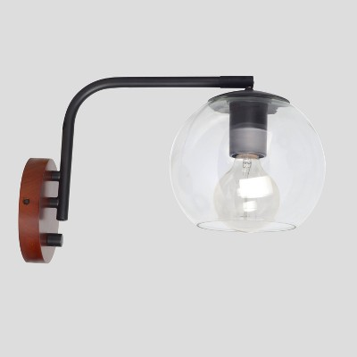 Menlo Glass Globe Wall Light Black Lamp Only - Project 62™