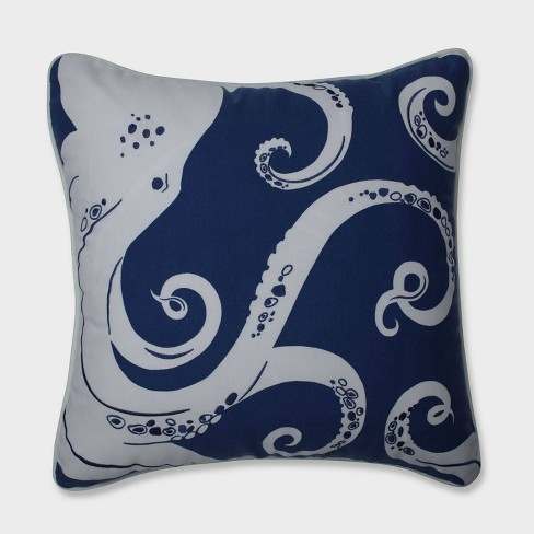 Ollie Octopus Throw Pillow Blue - Pillow Perfect - image 1 of 1
