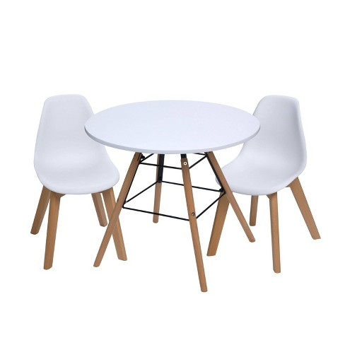 3pc Modern Kids Round Table And Chair, Kids Round Table