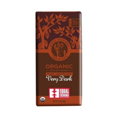 Equal Exchange Organic Fairly Traded 71% Very Dark Chocolate Bar - 2.8oz