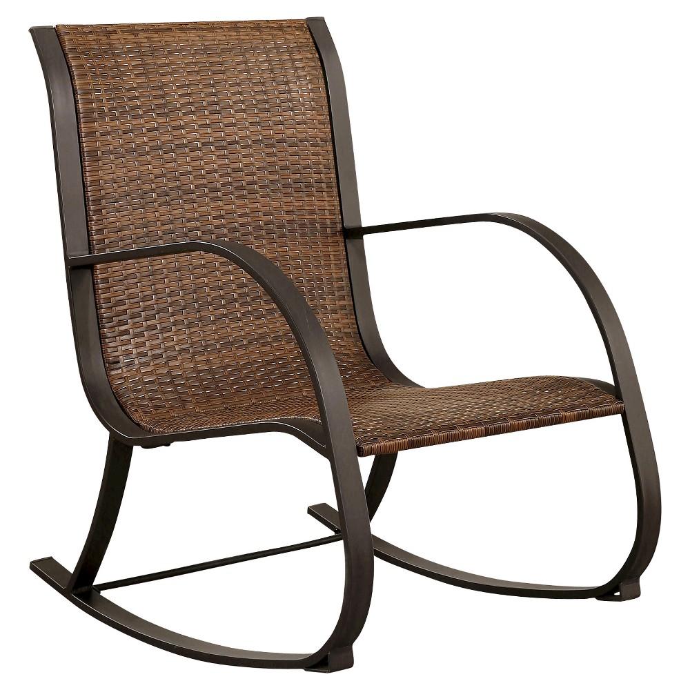 Gabriela Outdoor Rocking Wicker Chair - Brown - Abbyson Living