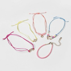Girls' 5pk Unicorn Bracelet Set - Cat & Jack™