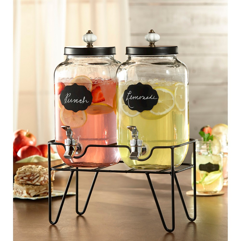 American Atelier Manchester Beverage Dispenser Set of 2, Clear