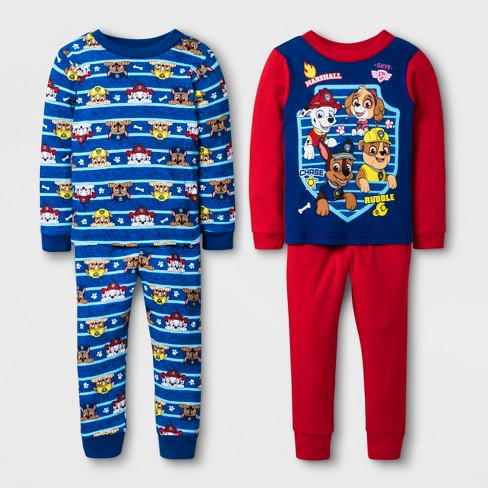 054245237 Toddler Boys  PAW Patrol 4pc Cotton Pajama Set - Re   Target