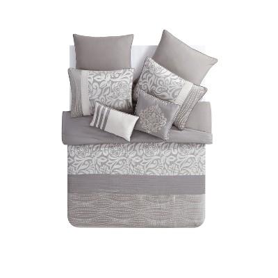 Taupe Arcadia Comforter Set 8pc - VCNY