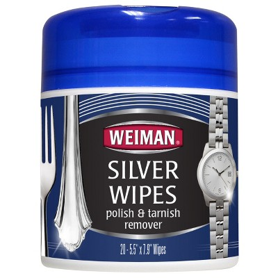 Weiman Silver Polish & Tarnish Remover Wipes - 20ct