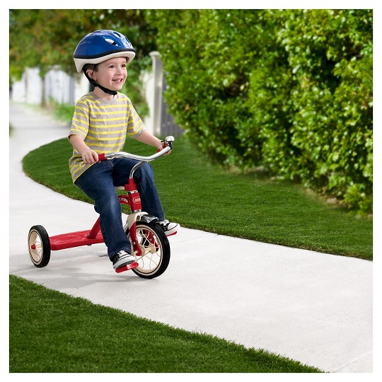 "Radio Flyer 10"" Classic Tricycle - Red, Kids Unisex image number null"