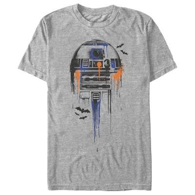 Men's Star Wars Halloween R2-D2 Bats T-Shirt