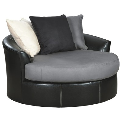 Jacurso Oversized Swivel Accent Chair Charcoal - Signature Design by Ashley