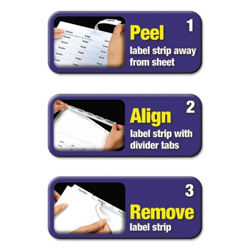 Avery 11 X 8 12 Big Tab Index Maker Label Dividers With 8 Tab